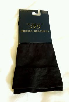 Brooks Brothers Trouser Socks Black One Size Fits All #brooksbrothers #Dress