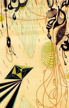 Yellena James - No Name Parade Abstract Line Art, Abstract Pattern, Botanical Illustration, Illustration Art, Yellena James, Organic Shapes, Organic Patterns, Creative Artwork, No Name
