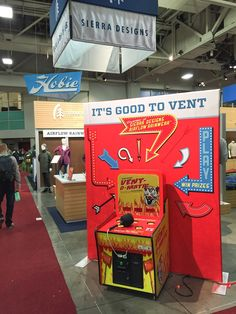 Great customization of retro Whac A Mole game with trade show booth tie-in!