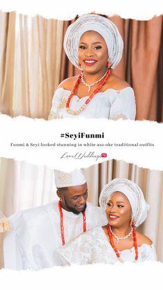 Funmi & Seyi looked stunning in white aso oke traditional outfits Traditional Wedding, Traditional Outfits, Looking Stunning, Real Weddings, Crochet Necklace, Asos, Fashion, Moda, Fashion Styles