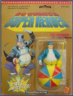 Toy Biz DC Comics Super Heroes The Penguin  Figure 1990