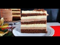 Tort Duo cu ciocolată și vanilie - delicat, elegant, suprem | Pasiune & Savoare - YouTube Tiramisu, Cake, Ethnic Recipes, Desserts, Food, Tailgate Desserts, Deserts, Kuchen, Essen