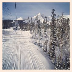 Homan's are gonna have fun there! Sky Mountain, Mountain Resort, Big Sky Montana, Ski Montana, Skiing In America, Big Sky Ski, Snow Pictures, Snowboarding, Wonders Of The World