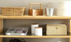Watch Get Organized with Storage Containers in the Better Homes and Gardens Video Do It Yourself Organization, Organizing Your Home, Storage Organization, Organizing Tools, Smart Storage, Storage Ideas, Better Homes And Gardens, Getting Organized At Home, Secret Organizations