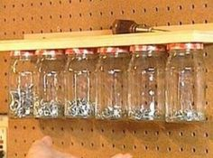 DIY Mason Jar Garage Organizer - Top 58 Most Creative Home-Organizing Ideas and DIY Projects