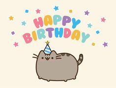 Pusheen tarjeta de cumpleaños por beccyboo-412