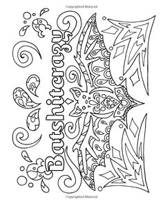 Very Punny: An Adult Coloring Book of Puns, Swearing and Motivation, Funny Swear Quote Coloring Book with 30 Hand Drawn Illustrations Skull Coloring Pages, Quote Coloring Pages, Printable Adult Coloring Pages, Colouring Pages, Coloring Books, Coloring Sheets, Art Plastic, Halloween Embroidery, Tattoos