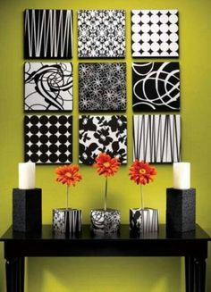 Flip over canvas stencil cut with x acto knife glue paper to back diy wall art ideas and do it yourself wall decor for living room bedroom bathroom teen rooms black and white styrofoam wall art cheap ideas for those on solutioingenieria Gallery