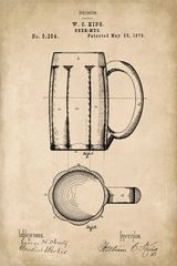 Beer Mug Invention Patent Art Poster Print
