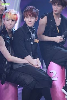 Sehun: hold it in..... hold it innnn...... Baekhyun: um... okay.. Kai: wtf......