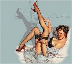 Sexy lingerie. vintage-pin-ups