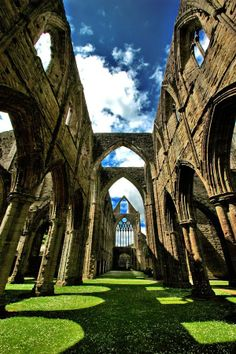 Inside of Tintern Abbey, Wales England © Serge Freeman
