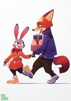 Disney - Zootopia -「二人のデート」/「あるうらら」のイラスト [pixiv]