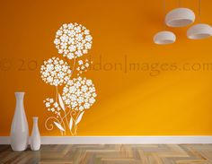 New pixie flower dandelion wall decal. shop @ValdonImages and get yours today! #nurserydecor #homedecor #girlsroomdecor