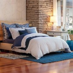 Invite luxury and beauty into your bedroom with the Bellora Luxury Italian-Made Kind Of Blue Duvet Cover. Navy and white stripes inspire nautical style and the duvet is crafted in Italy to meet your highest expectations. ⚓️ Shop now via the link in our bio! #bedbathandbeyond #finelinens . . . . #bellora #bedding #pretty #bedroom #bedgoals #naptime #nautical #coastal #masterbedroom #comfort #comfy #relax #home #homesweethome #homeinspo #homedecor #stripes #navyandwhite #bedroomstyle…