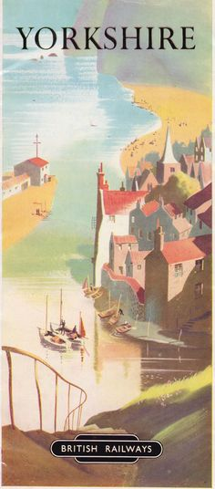 Yorkshire - holiday guide brochure issued by British Railways, 1952 via collections tips guide Posters Uk, Train Posters, Railway Posters, Poster Ads, Poster Prints, Poster Vintage, Vintage Travel Posters, Vintage Advertisements, Vintage Ads