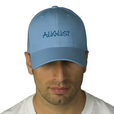 AUGUST EMBROIDERED HATS -Give your head a treat with this high-quality, #embroidered #FlexfitCaps. Available in two stretchable sizes, it gives you a really comfortable fit. Our cap features a Permacurv® visor, silver underbill, fused hard buckram 8.89 cm. crown, 6 sewn eyelets for breathability and taped seams. #USA #CAN #Bermuda #worldwide