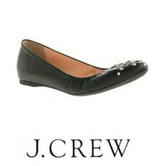 J.Crew Cece leather pyramid studded ballet flats Cushioned insole, leather upper, rubber sole, interior wedge, true to size, made in Italy  Sorry, NO TRADES J. Crew Shoes Flats & Loafers
