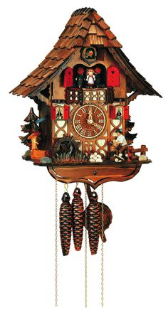 "Unusual Cuckoo Clocks 8tmt2653/9 45cm (17.5"") this unusual handcrafted chalet style"