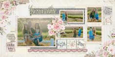 A step by step instruction video to create a layout (designed by Dennis) using the new LOVING YOU collection. Pastel Colour Palette, Pastel Colors, New Love, Love You, Floral Artwork, Emotional Connection, Craft Work, Step By Step Instructions, Layout Design