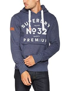 Superdry Markd Premium, Sweatshit à Capuche Sportswear Homme: Hooded Pull ties Large print on chest  Cet article Superdry Markd Premium,…