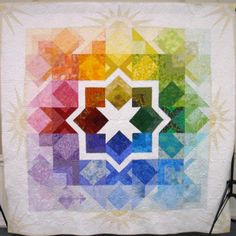 Morning Star raffle quilt seen at Patchwork Pie.  Design by Marilyn Foreman.