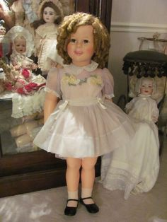 """BEAUTIFUL 36"""" Tall_1959 Shirley Temple PlayPal_All Original_IDEAL DOLL CO."""