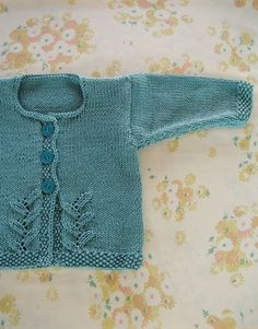 Provence Baby Cardigan (free knitting pattern) by Cecily Glowik.