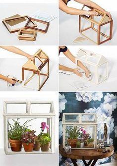 mini gew chshaus holz wei shabby chic f r die. Black Bedroom Furniture Sets. Home Design Ideas
