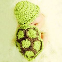 Stylish Tortoise Style Handmade Crochet Knitting Beanie Hat Clothes Set For Baby