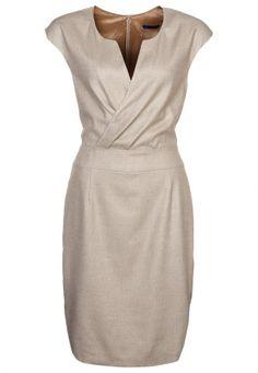 Sukienka etui - beżowy Sukienki Sukienki koktajlowe Joop beżowy