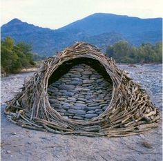 I like the use of natural materials by the artist Andy Goldworthy