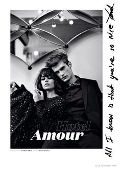 Marta Dyks Poses with Her Boyfriend, Borys Starosz, in Elle Poland Feature - Photographed by Frederic Pinet and styled by Ina Lekiewicz