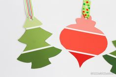 Paint chips can be used to create all sorts of fun gift tags. These ones are for Christmas but you could cut them in to any shape you want.
