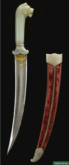 A MUGHAL GEM-SET JADE-HILTED DAGGER, INDIA, CIRCA 1700, AND JADE-MOUNTED SCABBARD, 19TH CENTURY