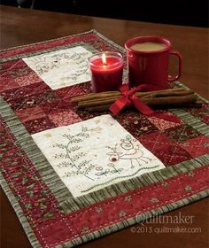 """Photo: """"Christmas in the Woods"""" by Gail Pan is featured in the Sept/Oct issue of Quiltmaker. What a great quilt to grace your tabletop! At q..."""