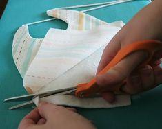 Baby Drool Bibs With FREE Pattern Crib Sheet Tutorial, Fabric Scissors, Drool Bibs, Macrame Cord, Pom Pom Trim, Different Fabrics, Print And Cut, Boho, Baby Quilts
