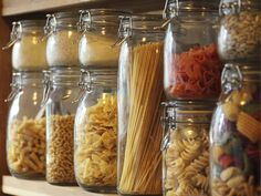 Pantry Essentials Checklist Cooking from the Pantry : Recipes and Cooking : Food Network Food Network Food Storage, Jar Storage, Storage Ideas, Kitchen Storage Jars, Kitchen Organizers, Storage Containers, Kitchen Pantry, Kitchen Hacks, Tidy Kitchen