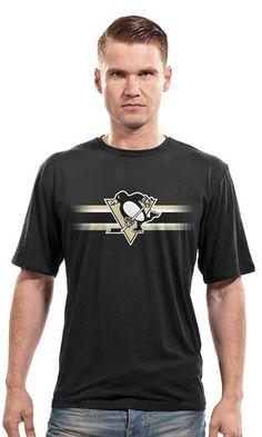 Pittsburgh Penguins Bar Stripe T-Shirt Nhl Apparel 39b470261