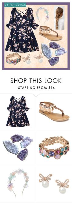 """""""Dark Floral: Contest"""" by blondegenius00pinkshadow ❤ liked on Polyvore featuring Penny Loves Kenny and Monsoon"""