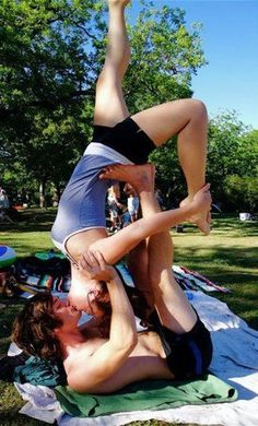 We wish you to try something new in 2013. Partner Yoga - or Antigravity - or Acro Yoga.