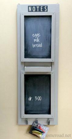 Double Chalkboard Message Center www.homeroad.net