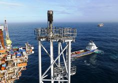 northsea platform-Chevron is using small drones to inspect flare tips.