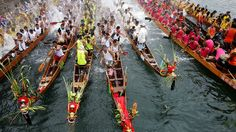 Visit Hong Kong to experience the excitement of the Duanwu Festival, celebrated on the 5th day of the 5th month of the lunar calendar. The Festival includes dragon boat races in Aberdeen -- one of the first places to host these races in Hong Kong. Fishermen believe that rowing dragon boats during the Duanwu Festival will bring them luck.