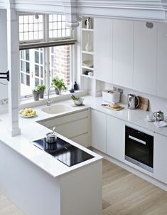 Small Kitchen Designs Inspiring Small Modern Kitchen Design Ideas 17 - There are so many people that like ultra-modern things and as such want a kitchen that fits in with this […] Small Modern Kitchens, Small Space Kitchen, Cool Kitchens, Kitchen Modern, Modern Small Kitchen Design, Modern Small House Design, Modern Design, Galley Kitchen Design, Kitchen Industrial