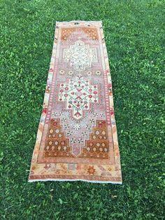 "TURKISH RUNNER RUG,Hallway Rug,Low Pile Oushak Runner,Kitchen Rug 2'7""x8'10"" | Antiques, Rugs & Carpets | eBay!"