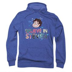Steven Universe Believe in Steven Adult Royal Heather Hoodie |