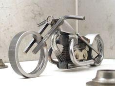 Bike 135 scrap metal art sculpture