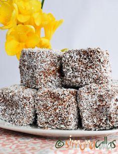 Prajitura tavalita de post Lamington vegan Vegan Dishes, Raw Vegan, Coconut Milk, Nutella, Vanilla, Lemon, Vegetarian, Sweets, Baking