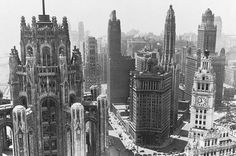 The towers of Chicago in the 1930's